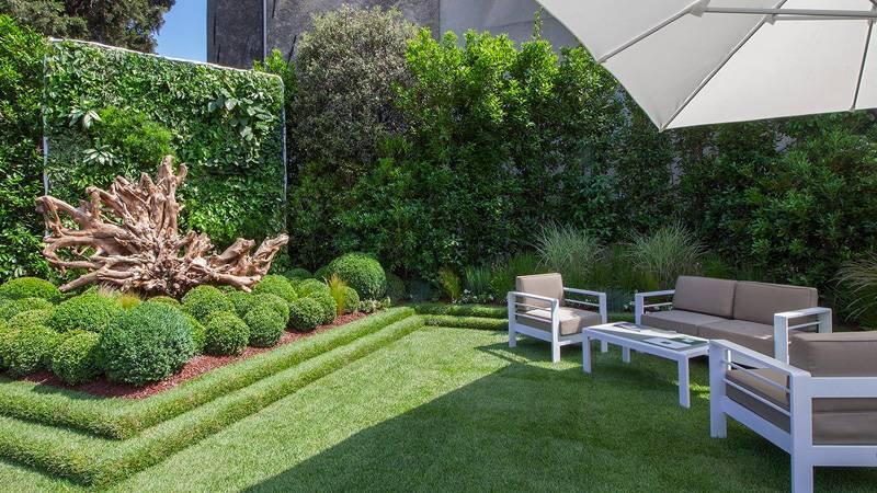 Roof top modern garden