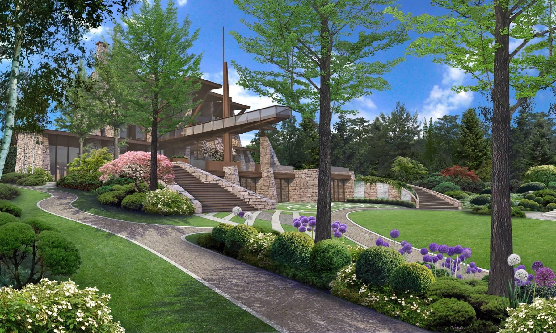 Luxury Garden on Moskva River - SF Landscape Architecture